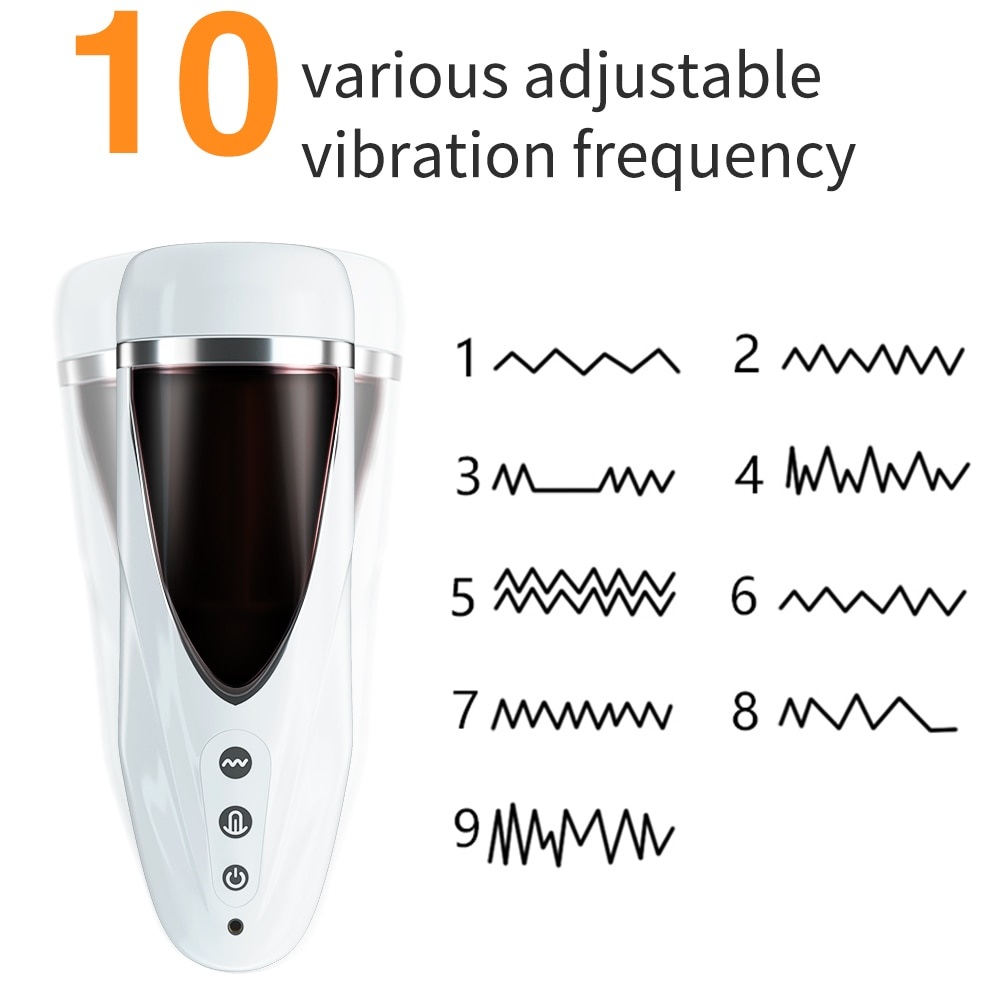 Automatic Male Masturbator Cup Realistic Tip of Tongue and Mouth Vagina Pocket Pussy Blowjob Stroker Vibrating Oral Sex Toy